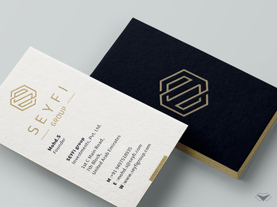 Logo and Business Card Design Project For SEYFI Group business corporate logotype logo finance gold investment business cards design business card stylish print editable