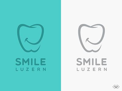 Smile Luzern Logo elegant happy smiling smile medical icons medical care medicallogo medical dentist logo dentistry dental care dentalclinic dental logo dental tooth icon illustration modern logo logotype