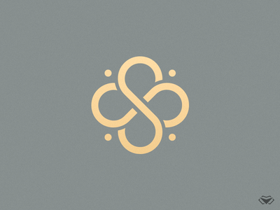 SISUS Logo four leaf clover design clover logo clover luxurious logo design letter s icon initial corporate business classy monogram modern gold elegant letter logo typography logotype