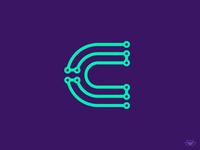 C Letter Network Logo