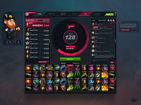 Mr. DOTA Logo & Game Interface UI/ UX