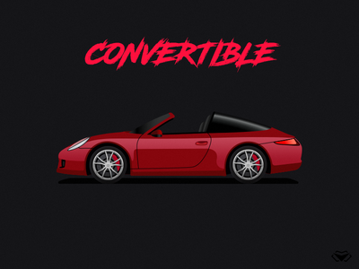 Convertible Body Type Illustration For Car Game