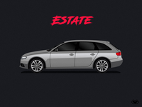 Estate Body Type Illustration For Car A Game
