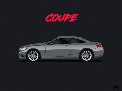 Coupe Body Type Illustration For A Car Game auto illustration auto simple illustration simple car body type car parts car illustration car game car icon design car icon modern app branding icon vector illustration design