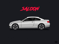 Saloon Body Type Illustration For A Car Game
