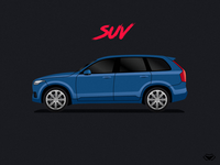 SUV Body Type Illustration For A Car Game