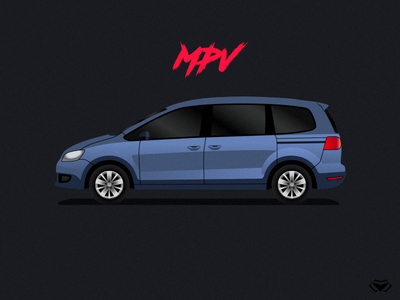 MPV Body Type Illustration For A Car Game