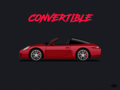 Convertible Body Type Illustration For A Car Game