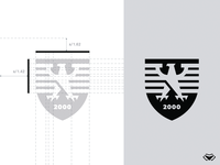 2000 Bird Shield Logo - Black and White