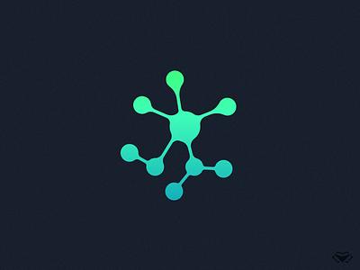 Molecular Logo corporate vector cellular cell genetics genome medical molecules molecular molecule dna biology blue green modern branding icon logo design logotype
