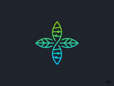Medical DNA Plant Logo
