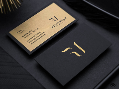Alriyadah Investments Logo & Branding black and gold sophisticated logo sophisticated style golden business card business card gold business monogram initial classy letter elegant branding icon modern design logo logotype