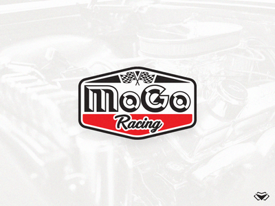 MoGo Racing Logo car shop logo race car logo racing logo racing initial monogram app letter typography branding vector business corporate icon modern logo design logotype
