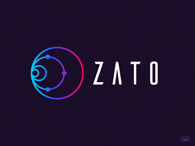 Zato Source Logo universe space minimal flat ui web blue app vector letter typography elegant branding business corporate icon modern design logo logotype