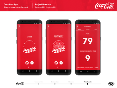 Coca Cola App Design - UI/ UX