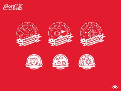 Coca Cola App Design - Final Badges - Two Versions