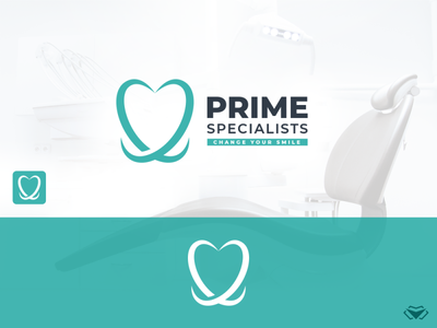 Prime Specialists - Dental Logo flat design minimal tooth teeth dental logo minimalistic logo classy branding elegant business corporate icon modern design logo logotype