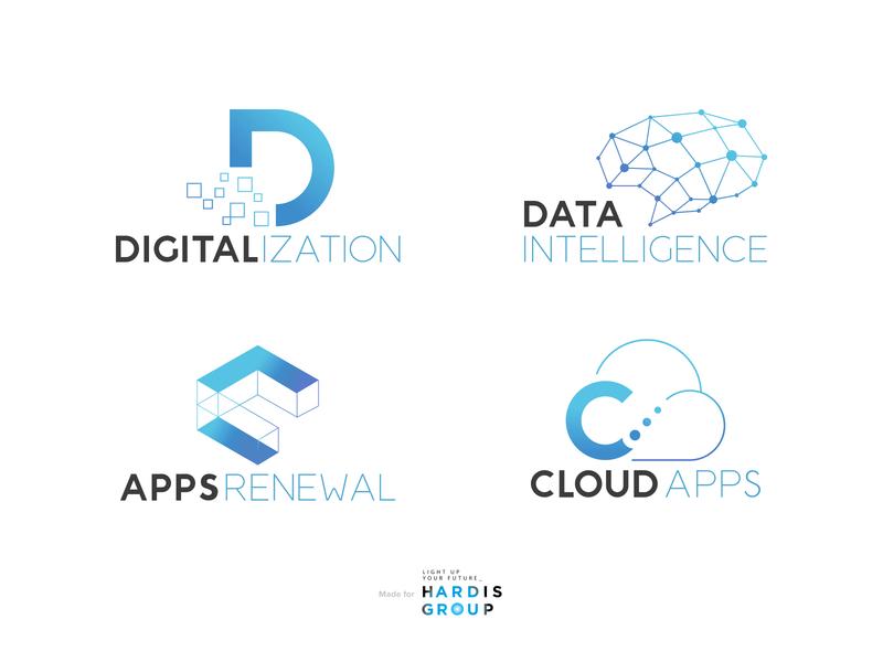Logos for tech departments brand identity logo