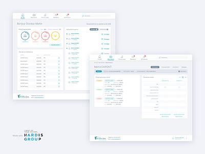 Dashboard to track medical patients web app responsive design webdesign