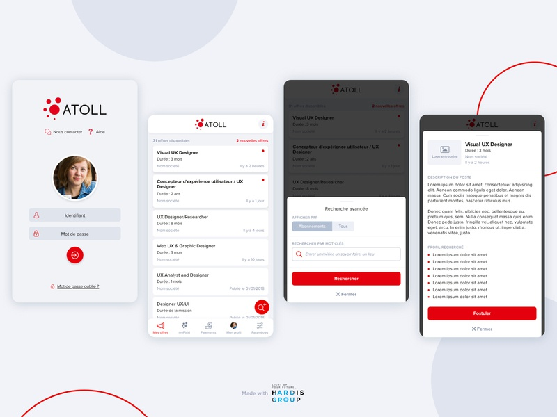 Jobs app for temporary workers 1/2 job app product design mobile design uxui ux mobile app