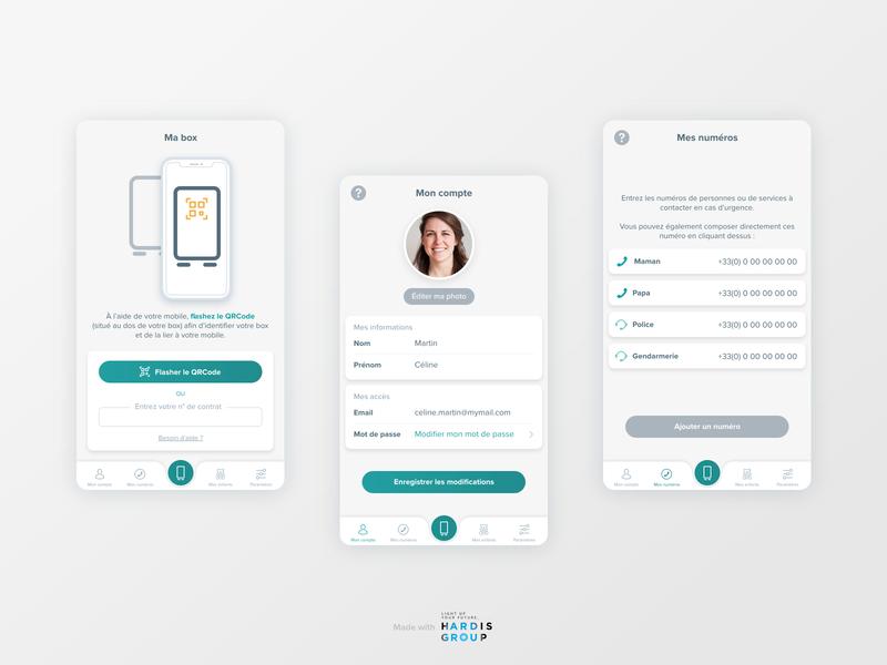Serenity home app for Crédit Agricole 1/2 mobile ux mobile ui product design ui ux mobile design mobile app