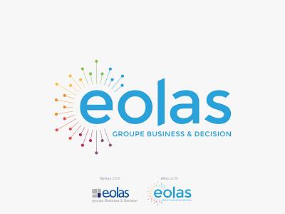 Eolas - rebrand brand identity logo rebrand