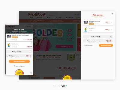 King Jouet - Redesign 3/3 cart ecommerce design product design responsive design webdesign