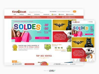 King Jouet - Redesign 2/3 ecommerce ecommerce design responsive design product design webdesign