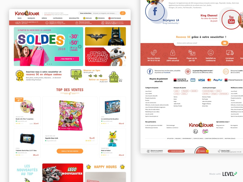 King Jouet - Redesign 1/3 ecommerce design ecommerce homepage product design webdesign