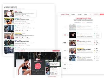 Wondercoach 2/2 ux ui product design webdesign wip fitness