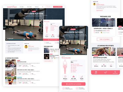 Wondercoach 1/2 fitness ui ux product design webdesign