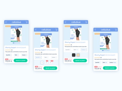 Cellublue - configurable product magento mobile responsive design mobile design product design configurable product