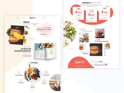 Dailyslim - landing page 3/3 healthy food landing page ui webdesign
