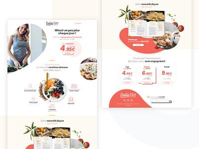 Dailyslim - landing page 2/3 healthy food webdesign ui landing page