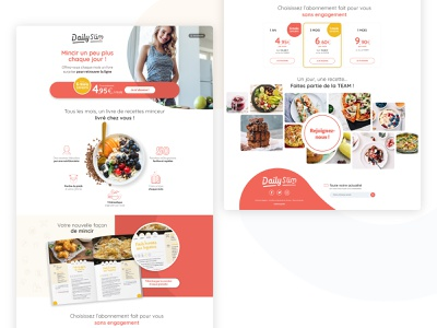 Dailyslim - landing page 1/3 healthy food webdesign ui landing page