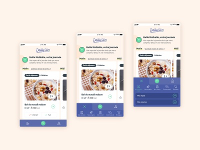 Dailyslim - multi-level mobile navbar mobile design product design healthy food mobile navigation mobile menu mobile