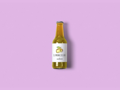 Limoncello specialized italian lemon yellow label limoncello