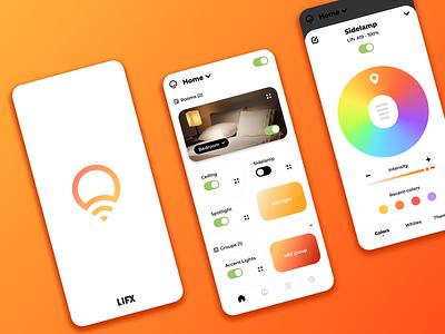 Lifx App Redesign control smartbulb colors smarthome app smarthome app redesign app design app rosek ux design figma icons ui design ux ui lifx