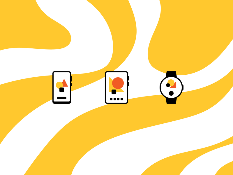 Minimal Devices rosek icons icon yellow pattern adobe illustrator vector flat design icon design iconography