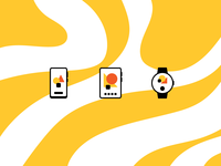 Minimal Devices rosek icons icon yellow pattern adobe illustrator vector flat design icon design iconography