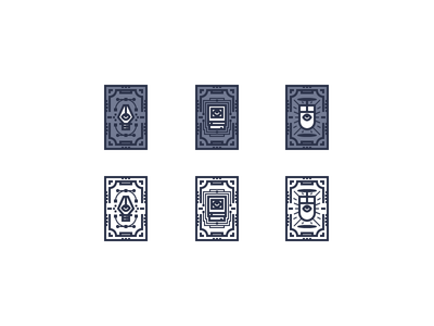 Illustrator's Tarot Cards rosek vector eye mouse computer pen card tarot line illustration icon