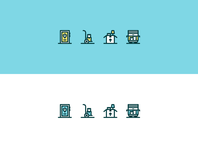 Moving Icons icon line icons icon design rosek illustration illustrator vector icon vector phone icon line icon line art line app location lamp dolly parton moving truck truck box phone