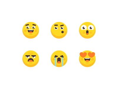 Emoji Icon Set flat icons flat rosek crying in love sad amazed happy feelings heads avatars icons vector illustration illustrator vector emoji vector icons vector emoji icons emoji