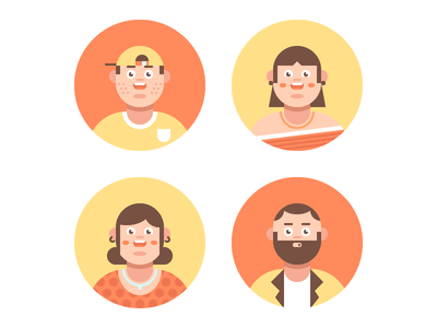 Family Avatar Icon Set rosek flat icons vector icons vector illustration man woman girl boy mother father dad mom daughter son family icon icon set avatar icons avatar