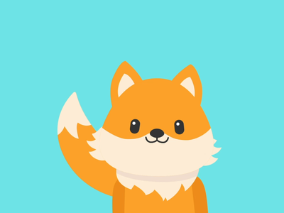 My first character animation character design vector digital illustration animation 2d kawaii animal fox illustrator after effects illustration animation