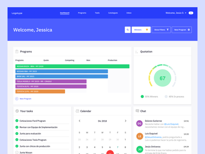 Dashboard task calendar chat web layout minimal ui  ux design dashboard ui design