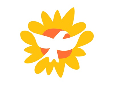 AH_v1.5 bird dove flower sun