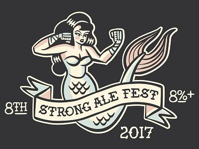 SAF_2017 ale beer ipad pro tail girl boxing mermaid