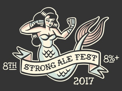 SAF_2017 ale beer ipad pro tail girl boxing mermaid