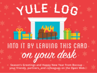 *Yule* log into it....